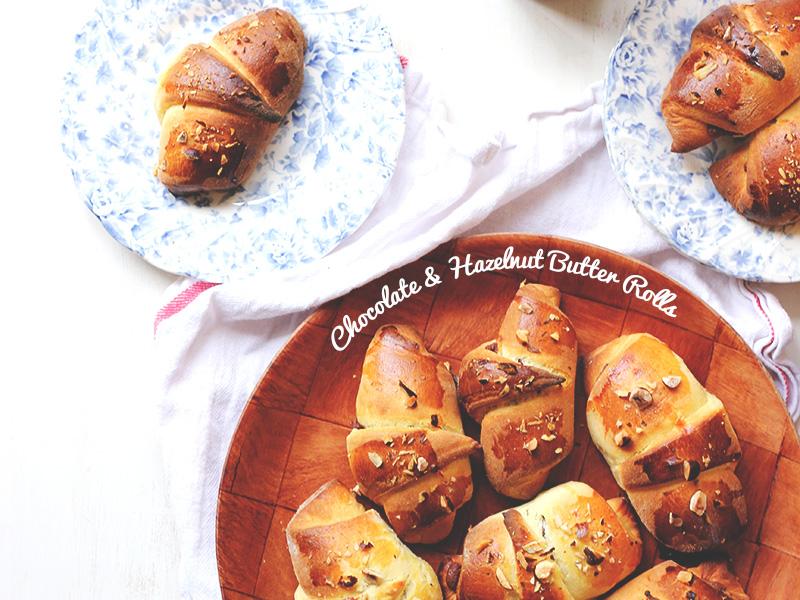 Chocolate & Hazelnut Butter Rolls / The Sugar Hit