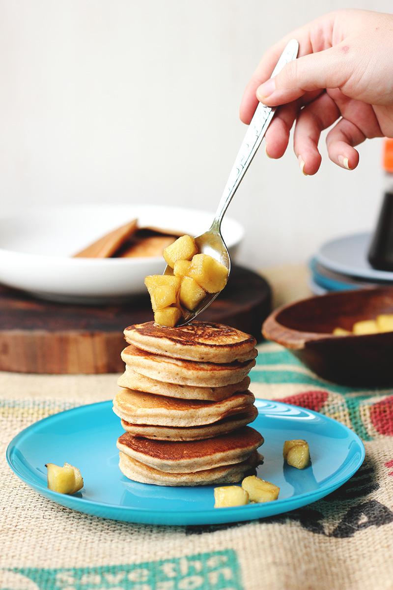 Cinnamon Spelt Pancakes with Apples | The Sugar Hit