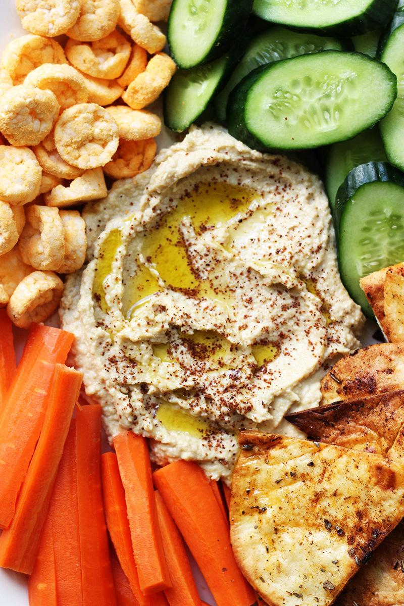 Hummus with Pita Chips | The Sugar Hit