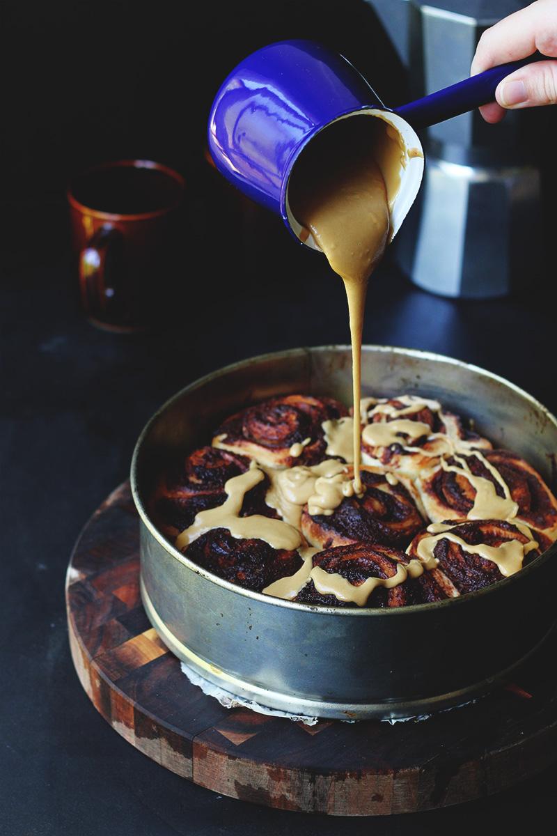 Pecan Brownie Buns with Espresso Glaze | The Sugar Hit
