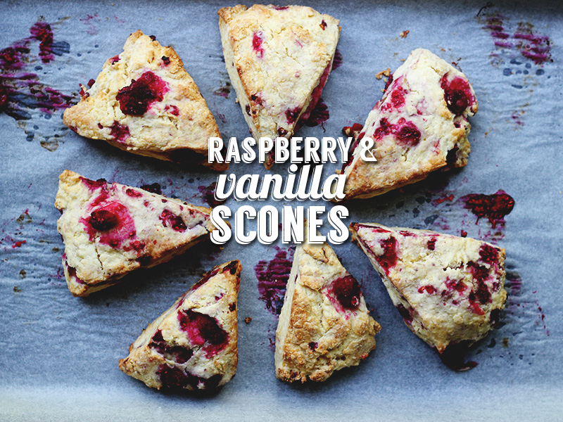 Raspberry and Vanilla Scones | The Sugar Hit