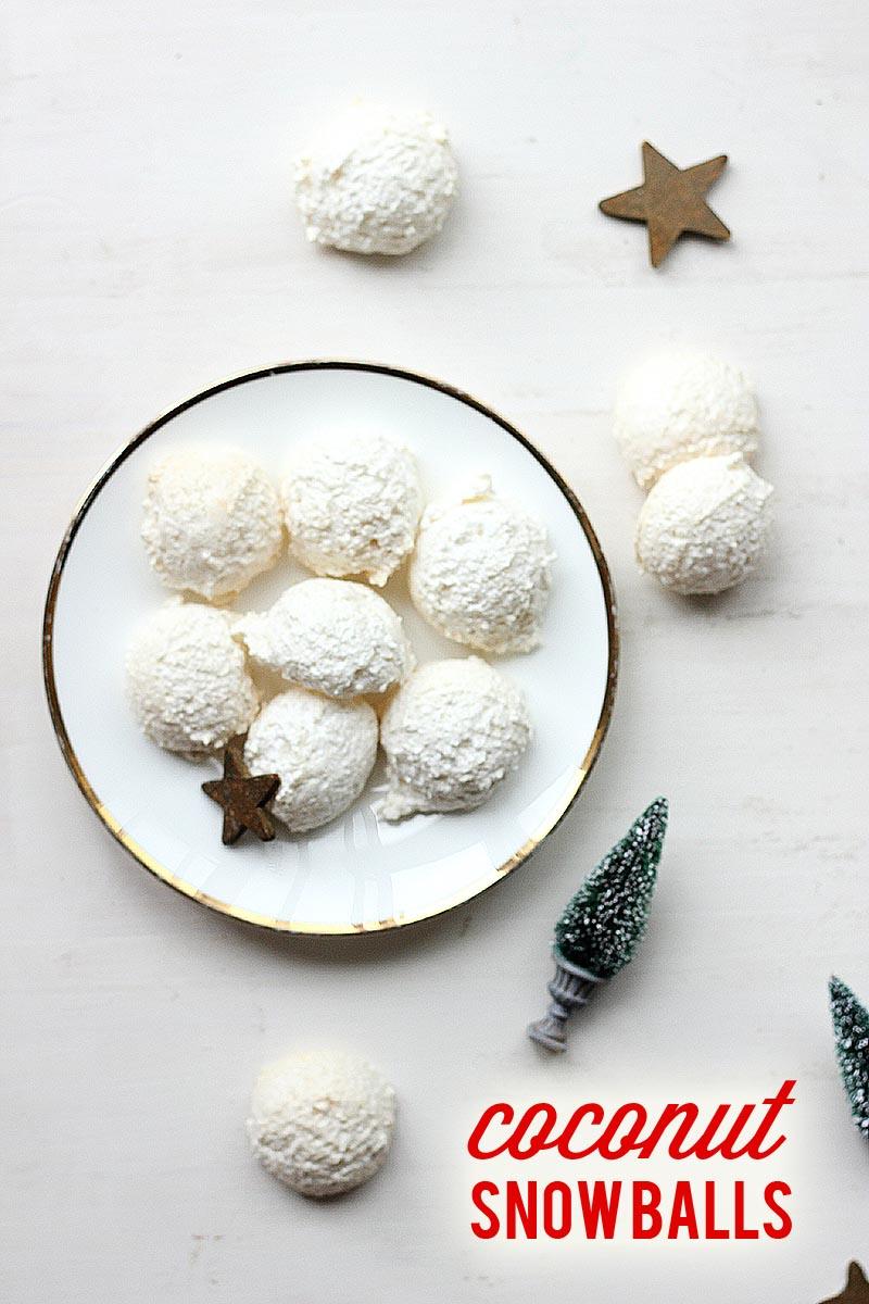 Coconut Snow Balls // The Sugar Hit