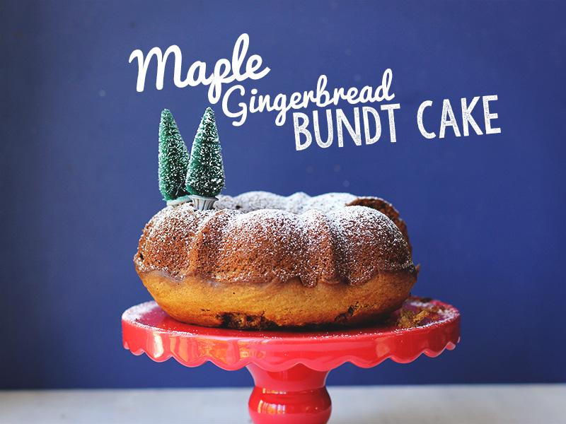 Maple Gingerbread Bundt Cake // The Sugar Hit
