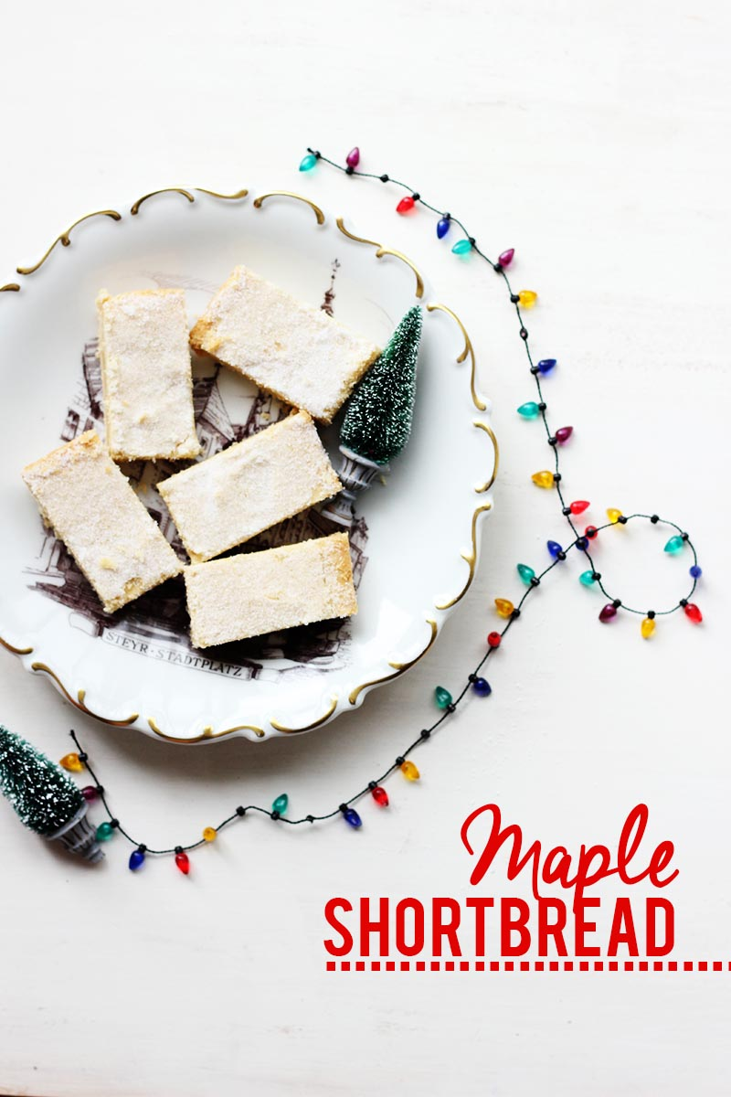 Maple Shortbread // Cookie Week! | The Sugar Hit