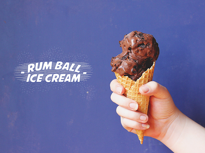 Rum Ball Ice Cream // The Sugar Hit