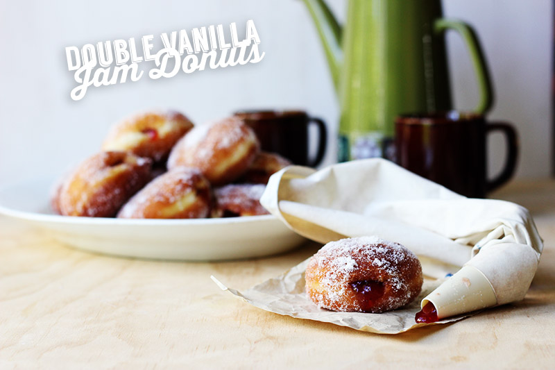 Double Vanilla Jam Donuts // The Sugar Hit