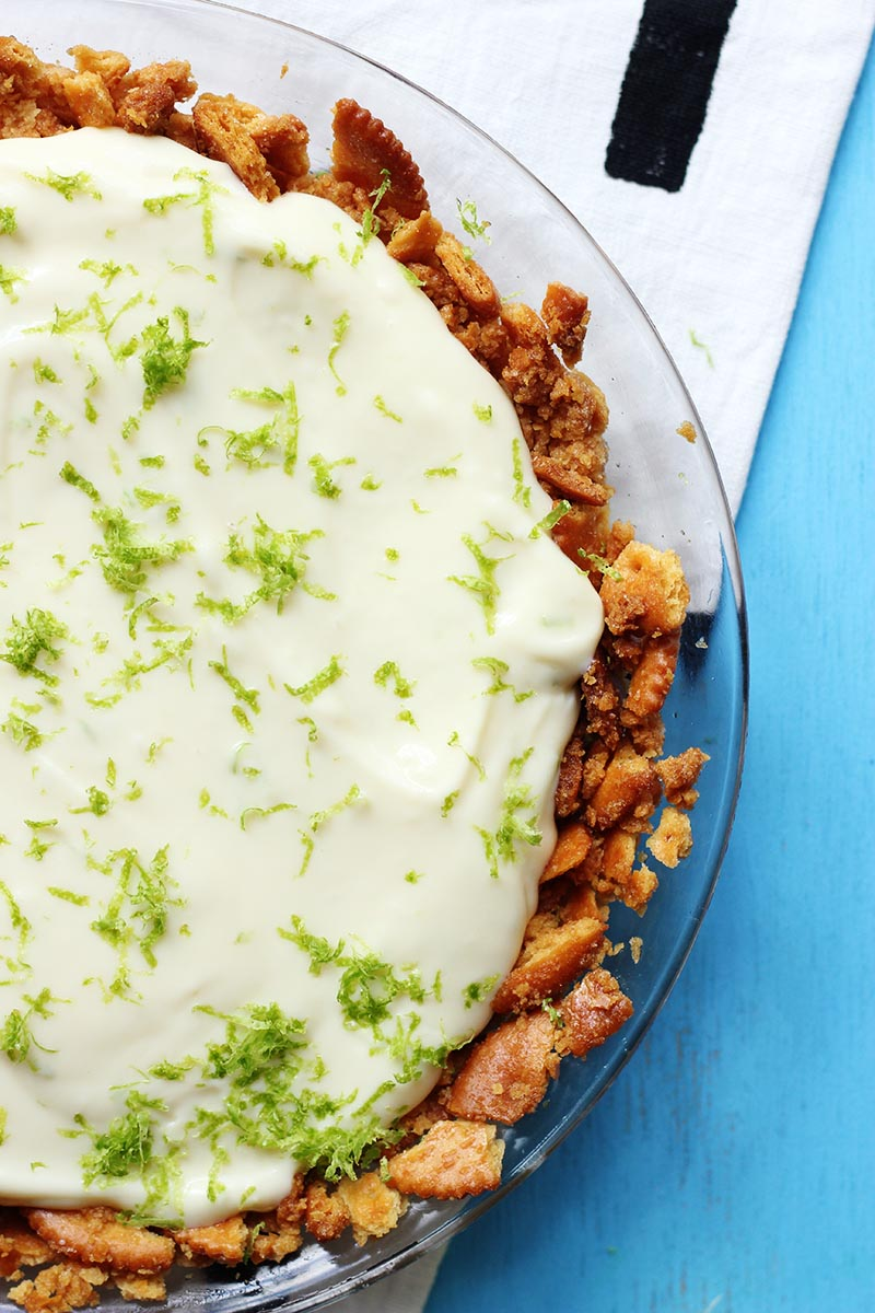 No Bake Key Lime Pie with Ritz Crust // The Sugar Hit