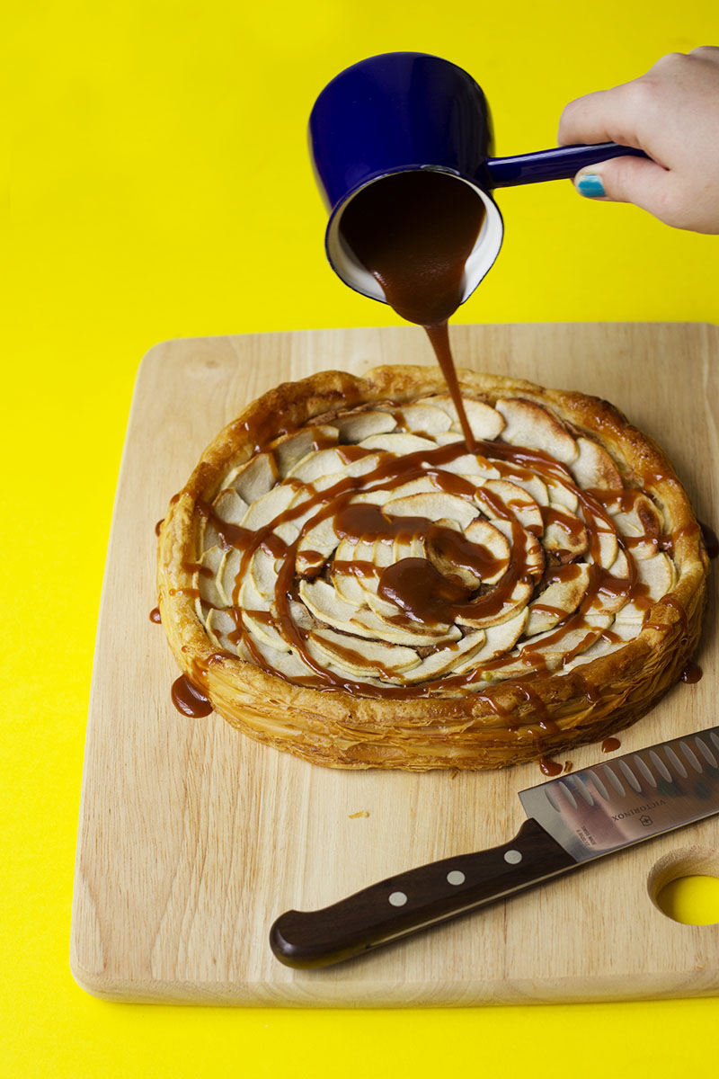 Almond & Apple Tarte Fine with Rum Caramel // The Sugar Hit