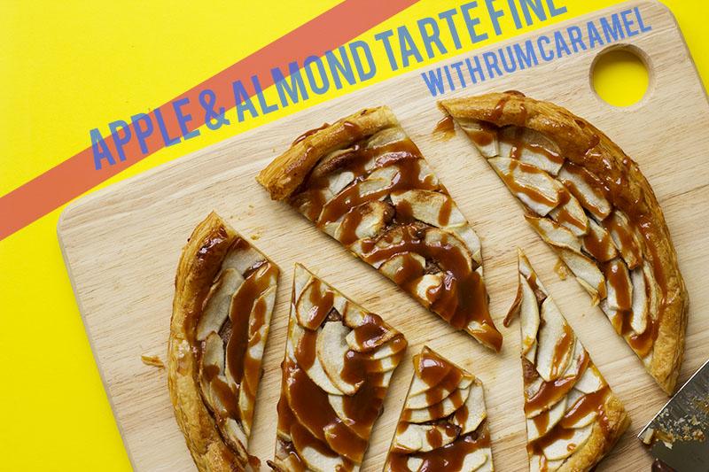 Almond & Apple Tarte Fine with Rum Caramel // The Sugar Hit