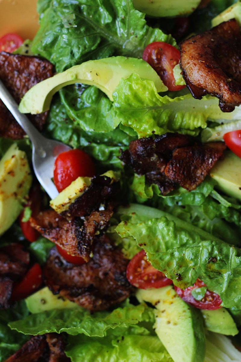 BLAT Salad with Taco Bacon // The Sugar Hit