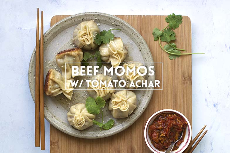 Beef Momos with Tomato Achar // The Sugar Hit
