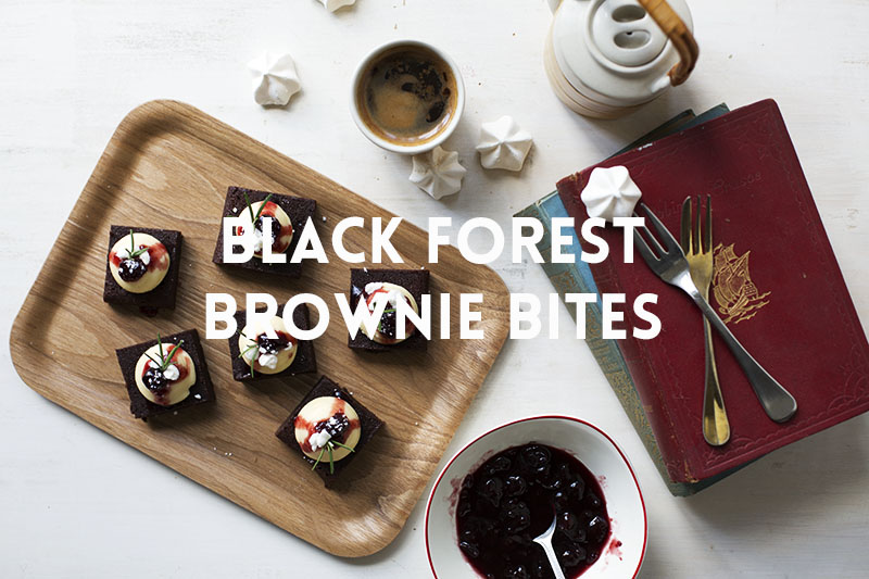 Black Forest Brownie Bites // The Sugar Hit