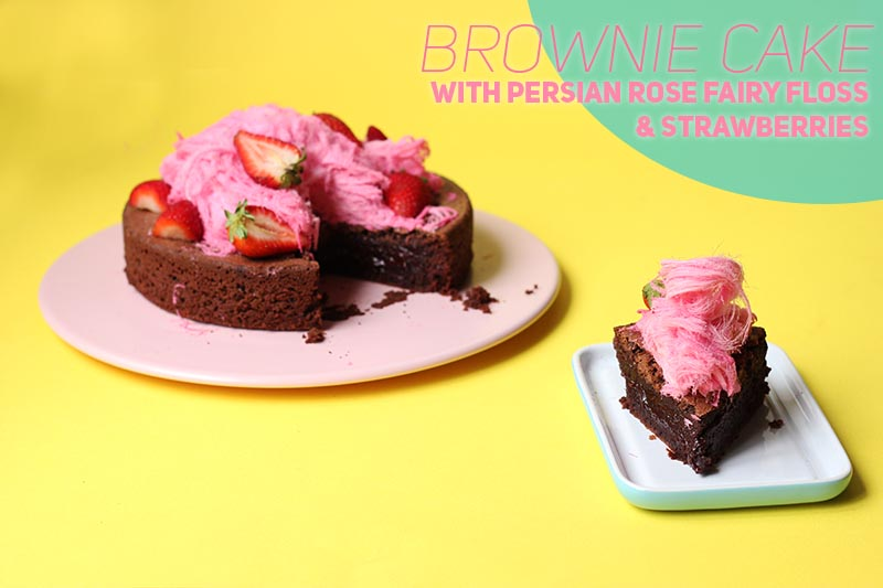Brownie Cake with Persian Fairy Floss // The Sugar Hit