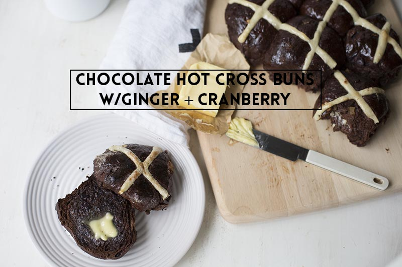 Chocolate Hot Cross Buns // The Sugar Hit