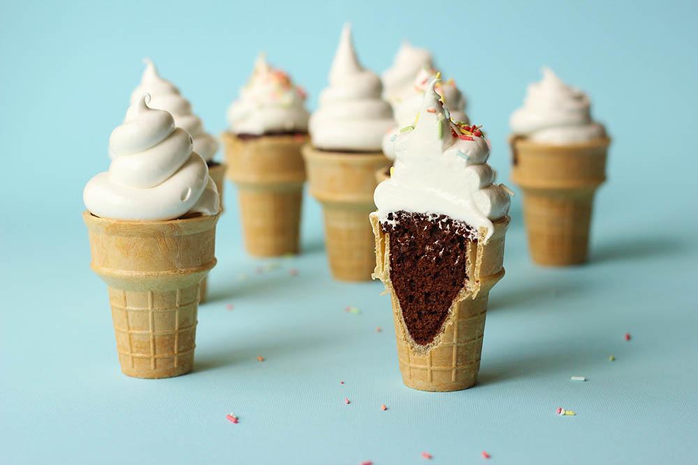 Chocolate Ice Cream Cone Cupcakes // The Sugar Hit