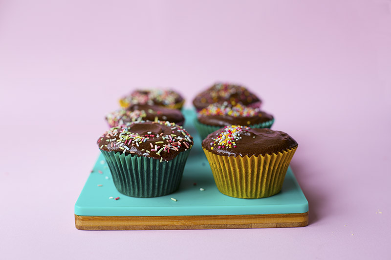 Chocolate Rye Cupcakes with Chocolate Pudding Frosting // The Sugar Hit