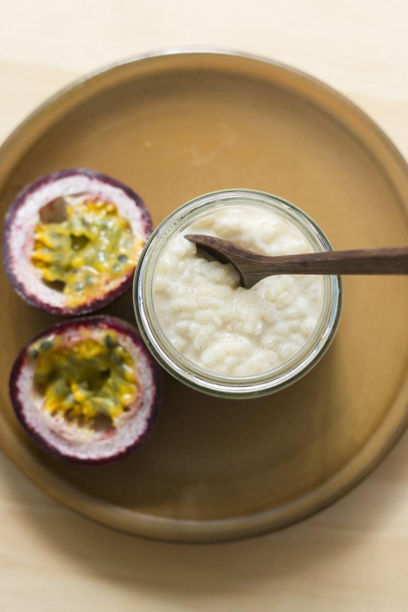 Coconut Rice Porridge with Passionfruit // The Sugar Hit