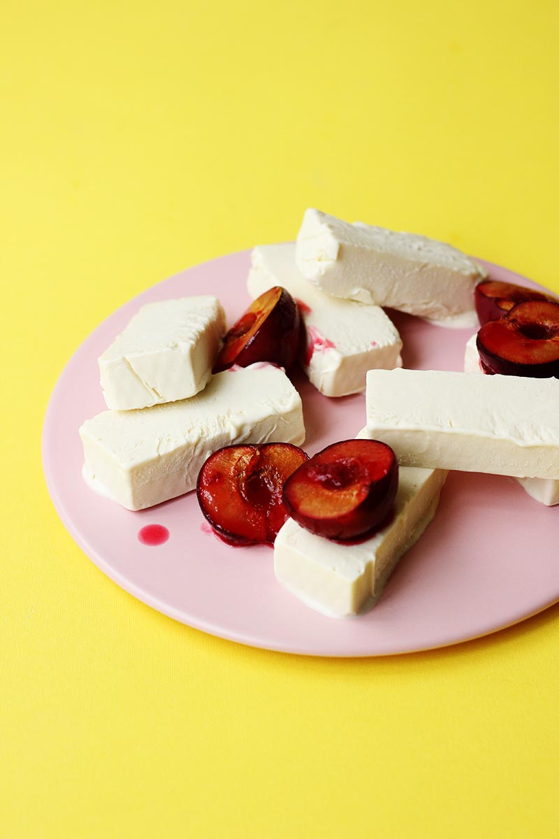 Coconut Semifreddo with Roasted Plums // The Sugar Hit