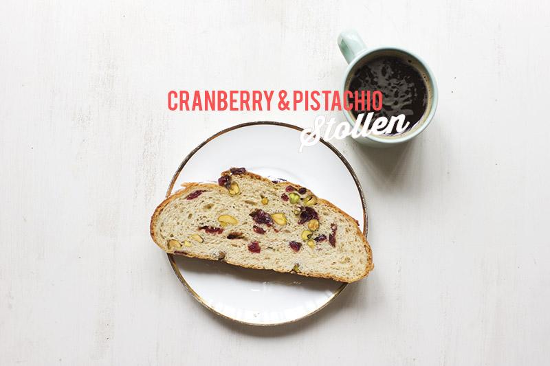 Cranberry & Pistachio Stollen // The Sugar Hit
