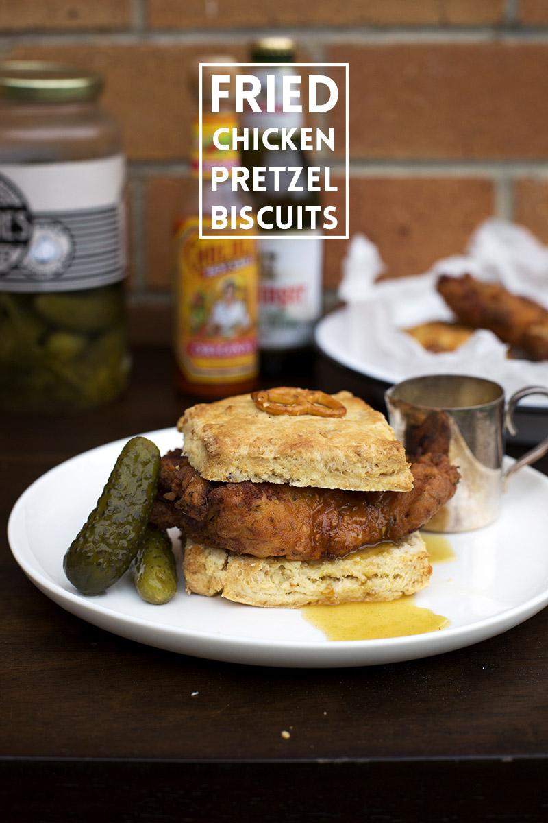Fried Chicken Pretzel Biscuits 15