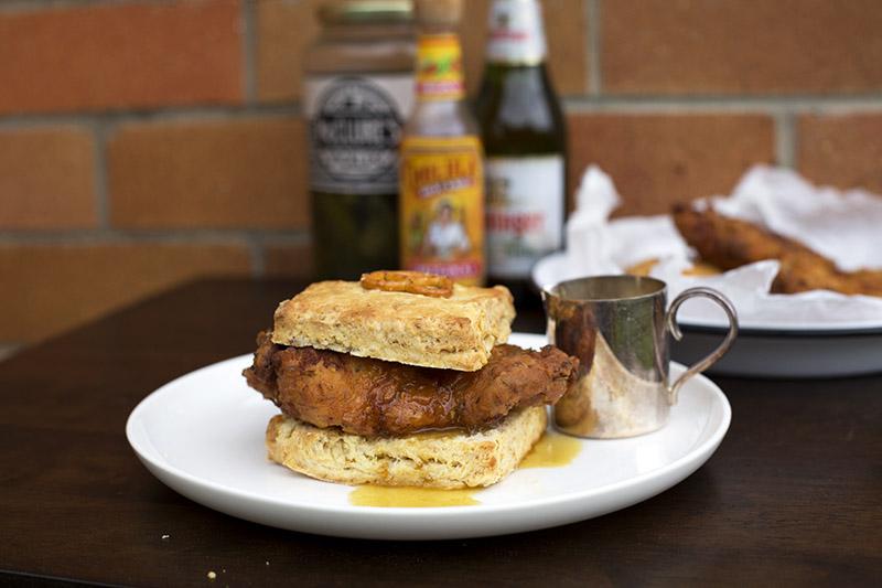 Fried Chicken Pretzel Biscuits // The Sugar Hit
