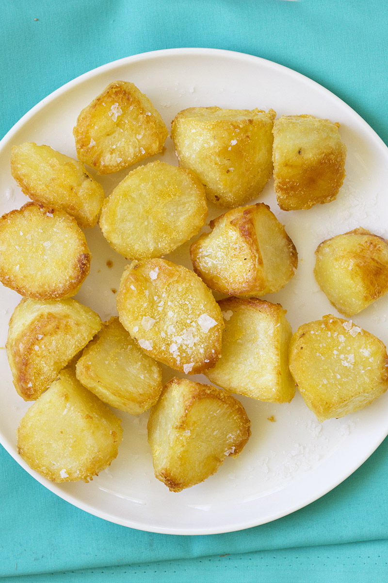 Golden Polenta Roast Potatoes // The Sugar Hit