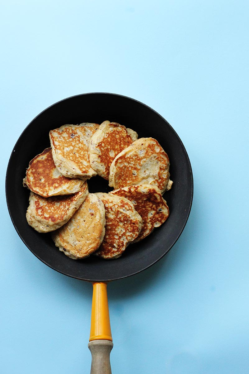 Hazelnut and Oat Pancakes // The Sugar Hit