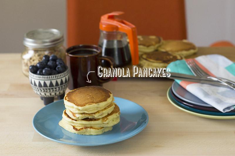 Honey Nut Granola Pancakes // The Sugar Hit