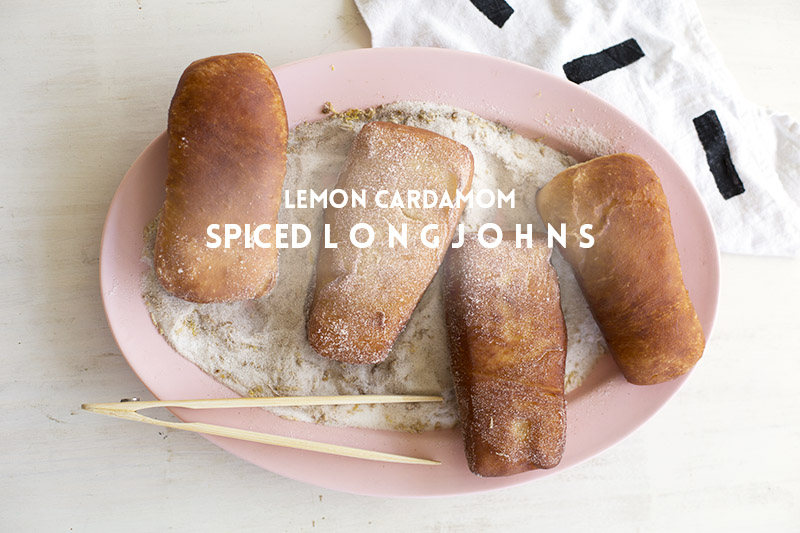 Lemon Cardamom Spiced Longjohns // The Sugar Hit!