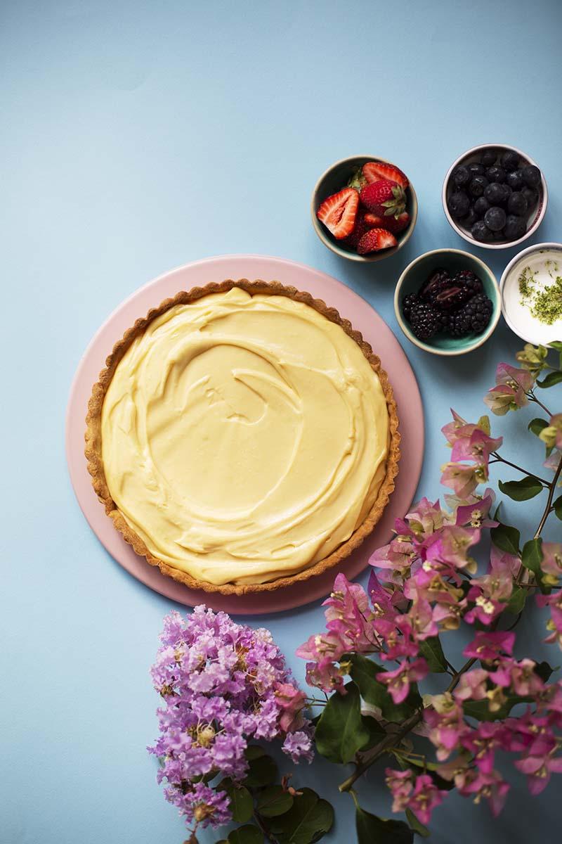 THE BEST Lemon Lime Cream Tart // The Sugar Hit