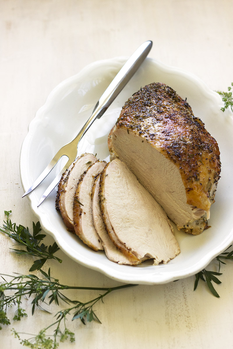 Lemon & Rosemary Roast Turkey Breast // The Sugar Hit