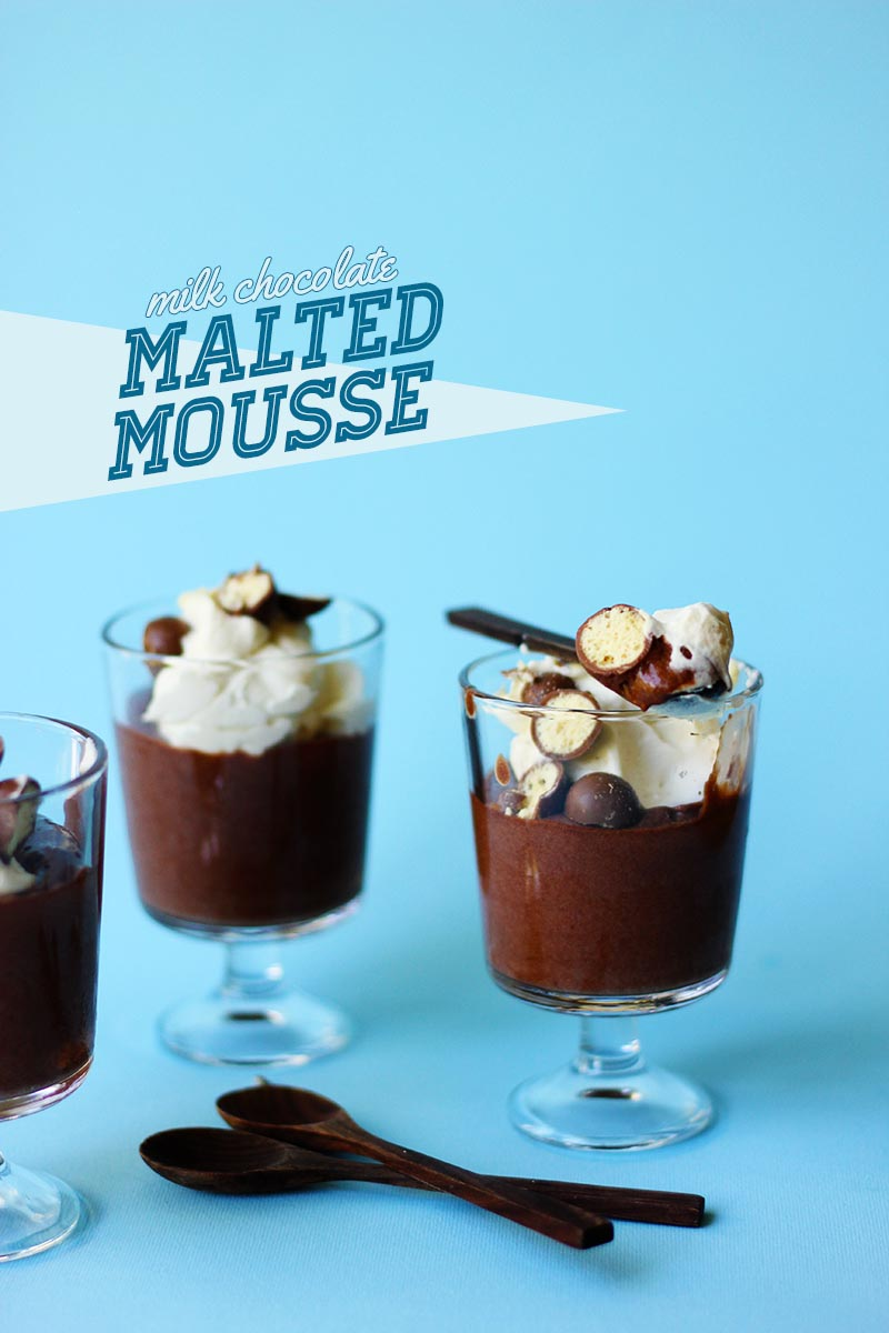 Milk Chocolate Malted Mousse // The Sugar Hit