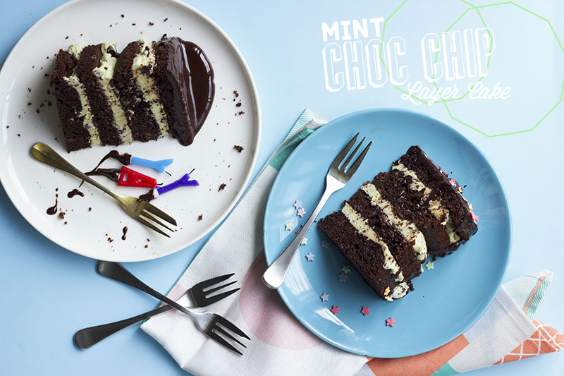 Mint Choc Chip Layer Cake // The Sugar Hit