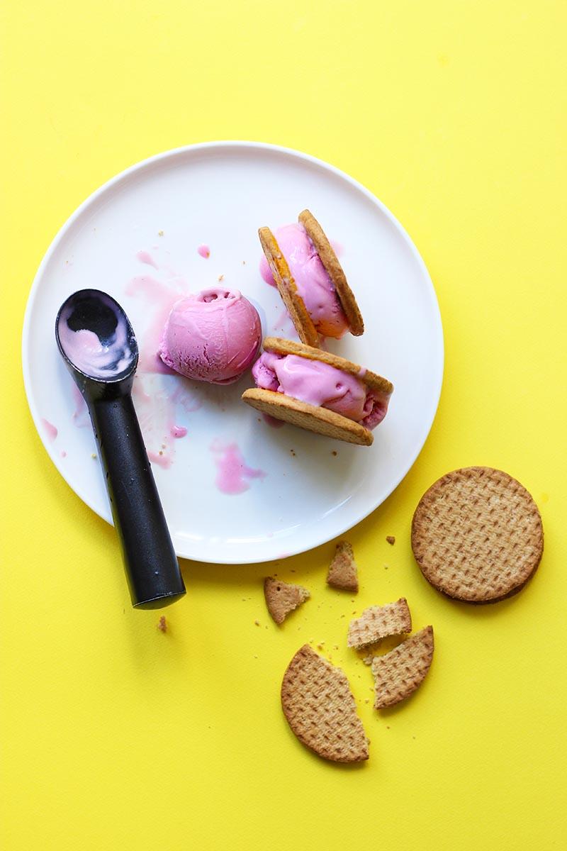 Mulberry Ice Cream // The Sugar Hit