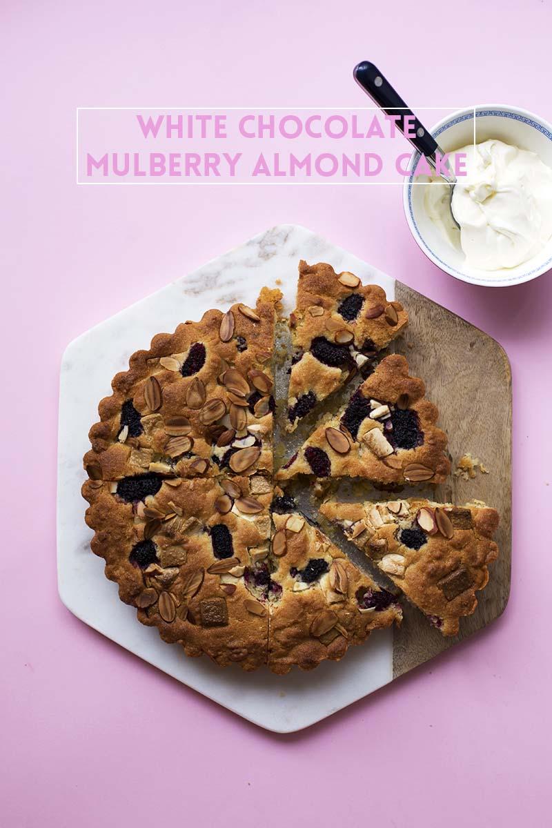 Mulberry White Chocolate Almond Cake // The Sugar Hit