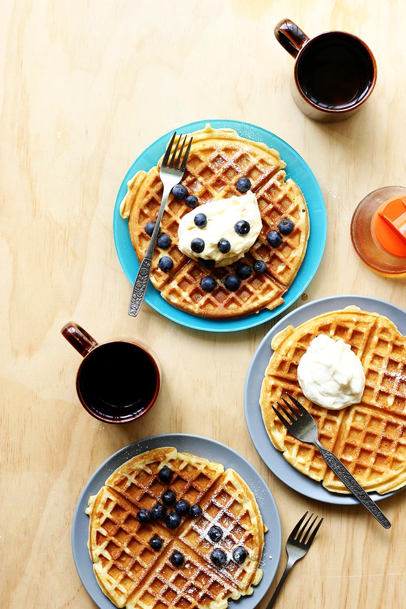 My Favourite Buttermilk Waffles // The Sugar Hit