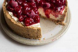 No Bake Raspberry Cheeesecake with Amaretti Crust 5