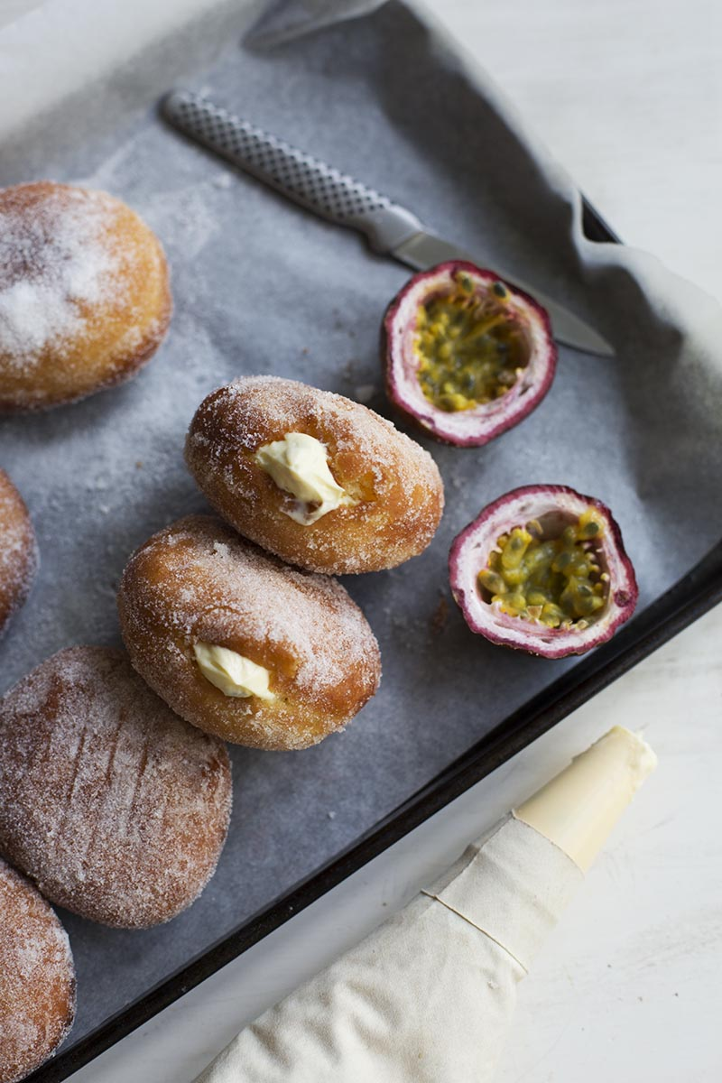 Passionfruit Cheesecake Malasadas // The Sugar Hit