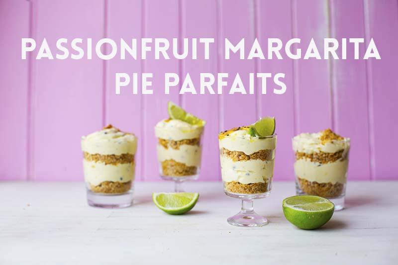 Passionfruit Margarita Pie Parfaits // The Sugar Hit