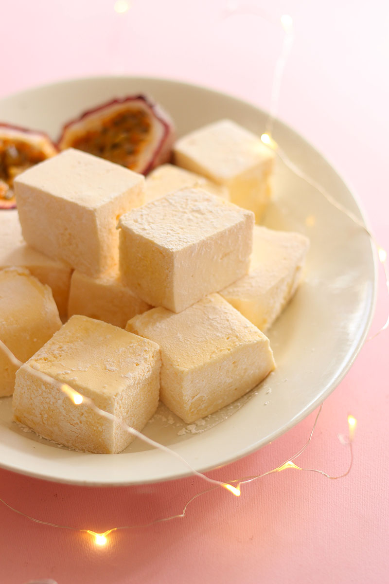 Passionfruit Vanilla Marshmallows // The Sugar Hit