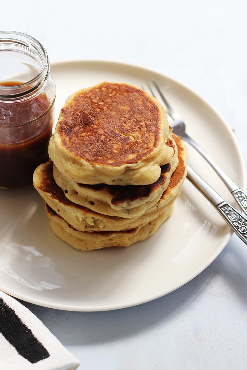 Pecan Pancakes with Vanilla Maple Caramel // The Sugar Hit