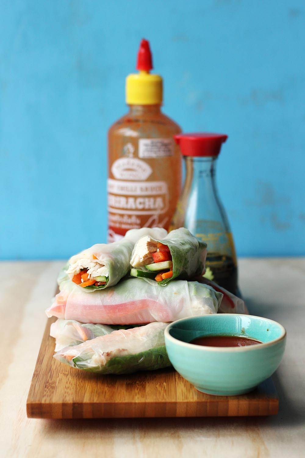 Quick & Easy Rice Paper Rolls // The Sugar Hit