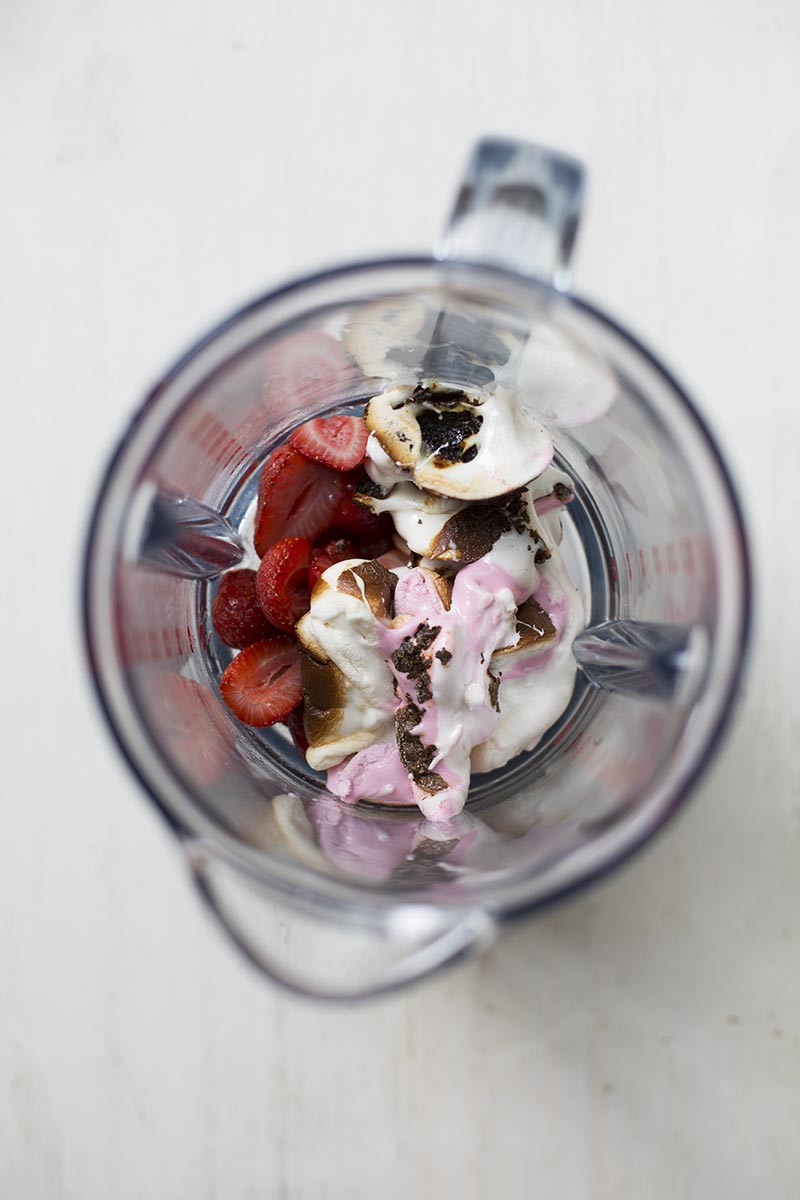Roasted Strawberry Marshmallow Milkshakes // The Sugar Hit