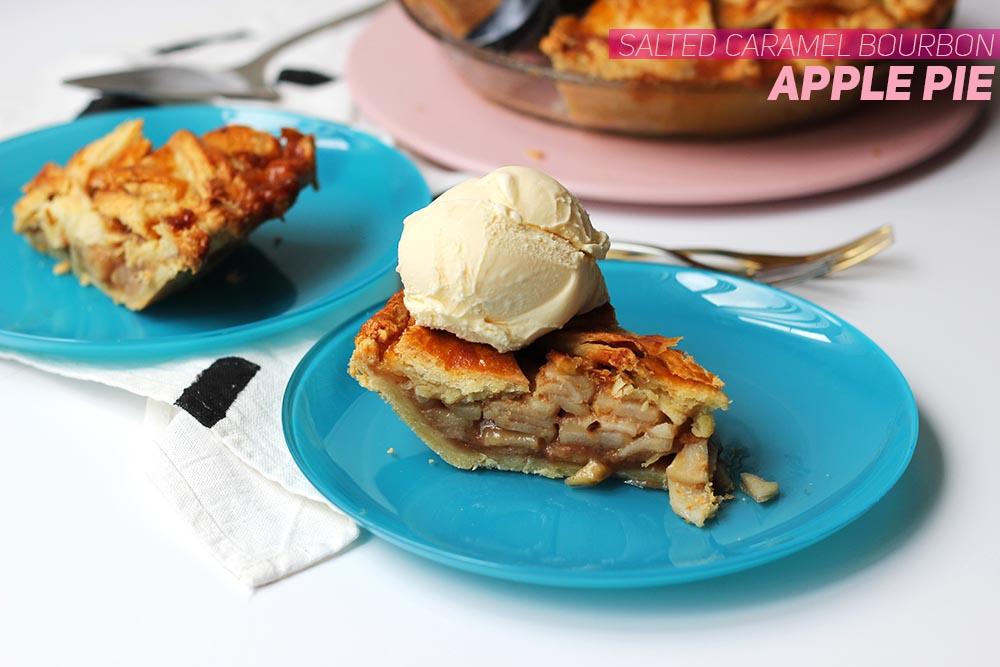 Salted Caramel Bourbon Apple Pie // The Sugar Hit