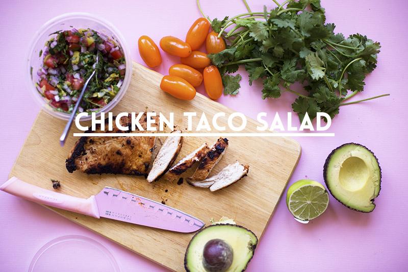 Spicy-Smoky Chicken Taco Salad