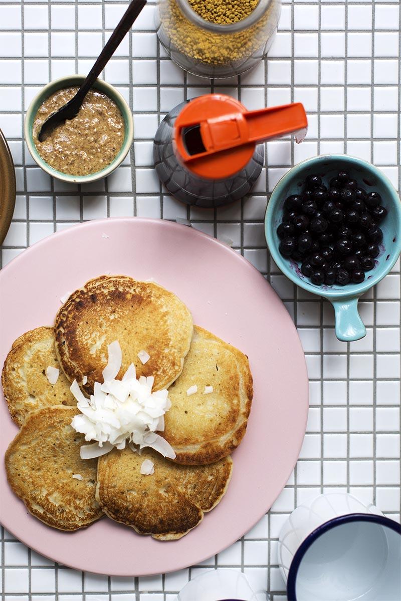 Vegan Coconut Pancakes! // The Sugar Hit
