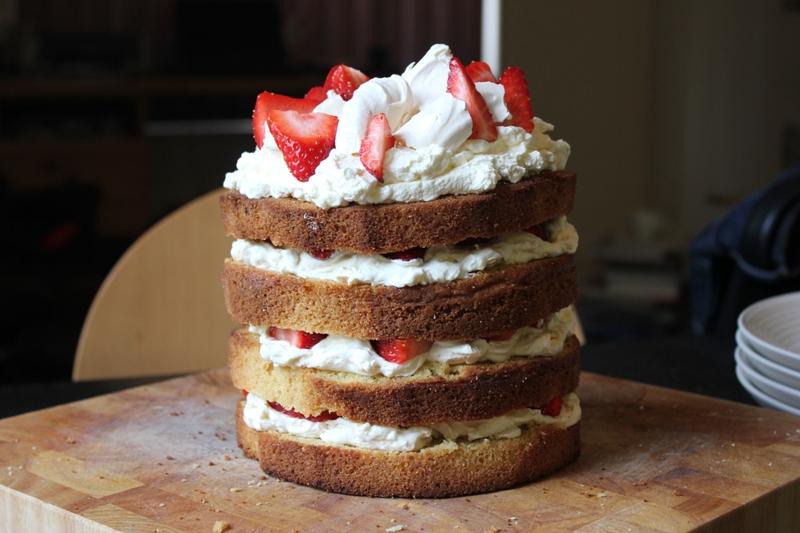 Strawberry Eton Mess Cake