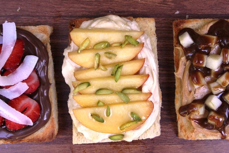 Peach Pistachio Cream Cheese Fairy Bread