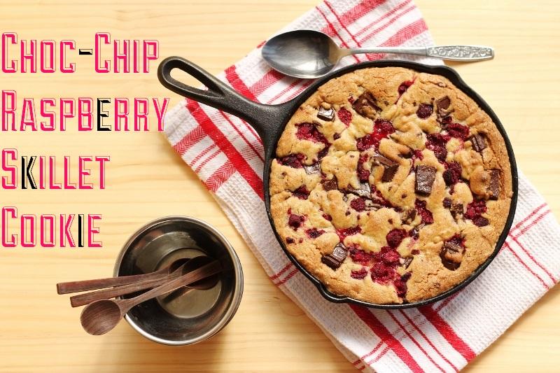 Choc-Chip Raspberry Skillet Cake | The Sugar Hit