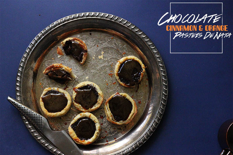 Chocolate and Cinnamon Pasteis De Nata | The Sugar Hit